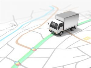 地図とトラックのイメージ画像
