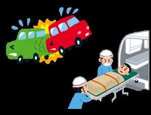 交通事故が起こった時のイラスト